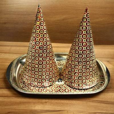 Minakari Paruppu Thengai Koodu set with Plate Indian return gift