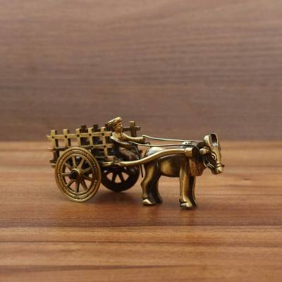 Brass Bullock Cart - Indian return gift