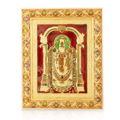 Wall Hanging - Tirupati Balaji with Minakari Design return gift