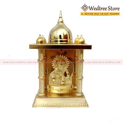 Laddu Gopal in Mandap  - Laddu Gopal of zinc alloy with gold electro plating.