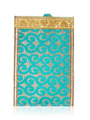 Mobile pouch - mobile pouch with brocade and lace return gift