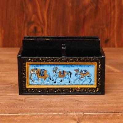 Wooden Hand Painted Card Holder with Partition return gift