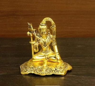 White metal gold finish Shiva return gift