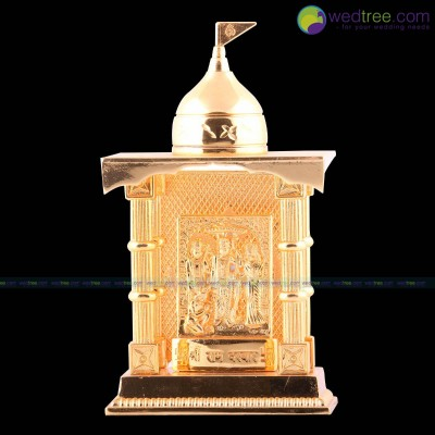Mandap - Ram Darbar made of zinc alloy with gold electro plating return gift