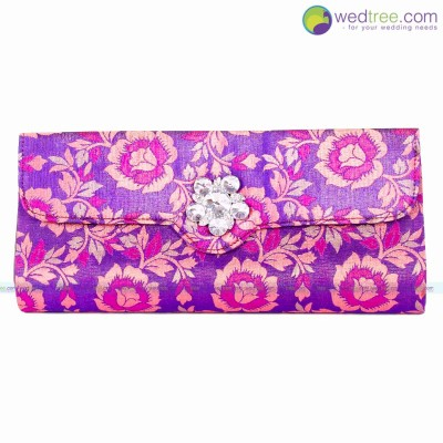 Clutch Purse  - Elegant clutch made of flower design Fabric return gift