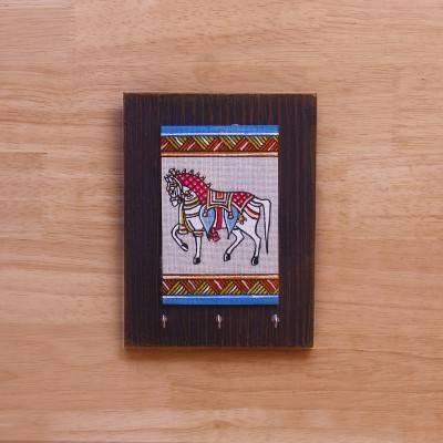Wooden Key Hanger with Jute Art Horse return gift