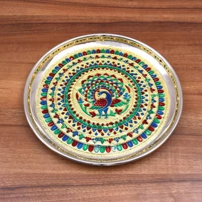 Minakari Plate - 9 inch - Indian return gift