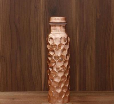 Copper Bottle with diamond design return gift