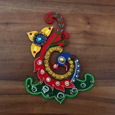 Paper Mache Key Hanger - Peacock Design Indian return gift