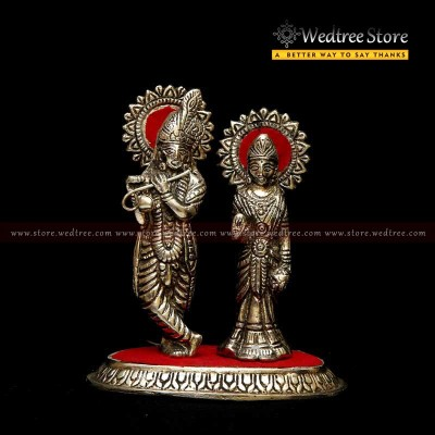 Oxidised Radha Krishna - Radha Krishna--- the most beautiful couple of the world  who possess never fading beauty return gift