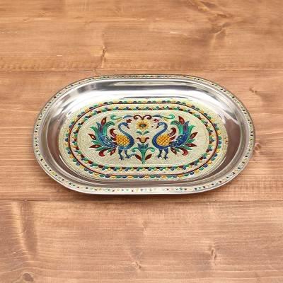 Minakari Oval Plate 12 inch return gift