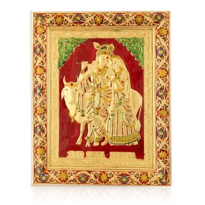 Wall Hanging - Radha Krishna with Minakari Design  return gift