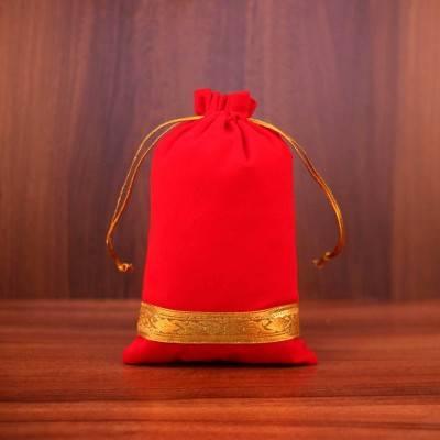 String Bag Velvet with zari  return gift
