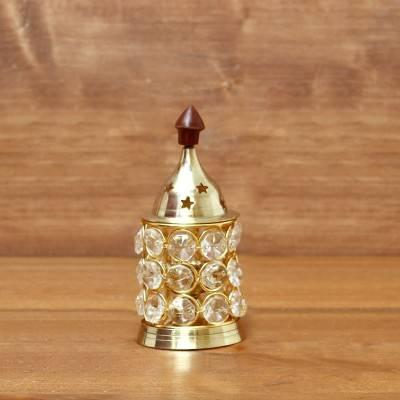 Brass Crystal Diya 1.5 inch return gift