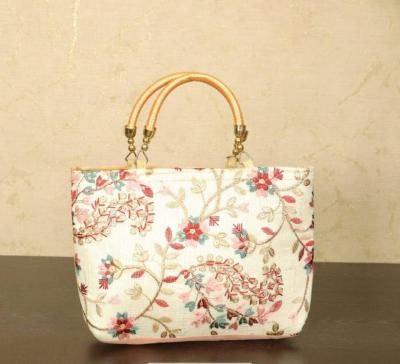 Hand Bag with floral embroidery return gift