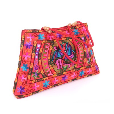 Hand Bag - Mirror and Thread embroidery return gift