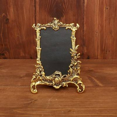 White Metal rectangle Photo frame with gold finish return gift
