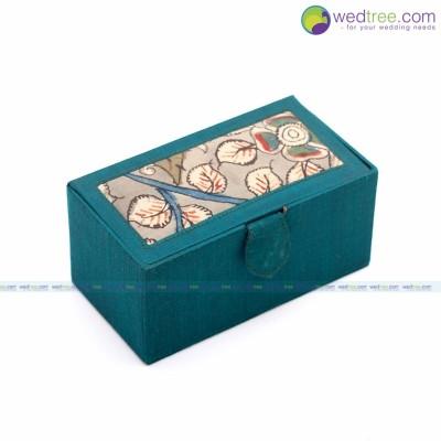 Bangle box - Bangle Box made of silk & kalamkari fabric return gift