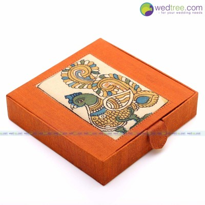 Jewel box - Jewel Box made of silk & kalamkari fabric return gift