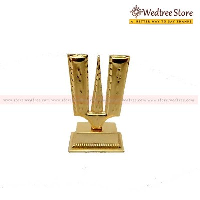Namam Stand - Namam stand is made of zinc alloy with gold plating return gift