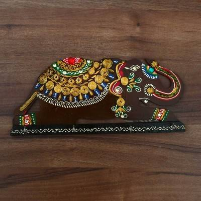 Paper Mache Key Hanger -  Elephant Design Indian return gift