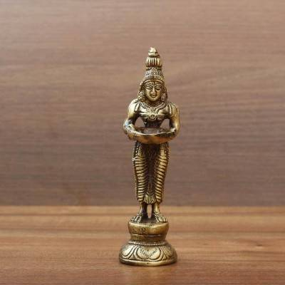 Brass Idol with Diya Indian return gift