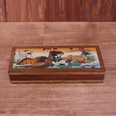 Wooden Gemstone painting box 10 X 4 inch return gift