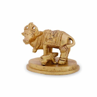 Pooja - cow and calf mini made up of brass return gift