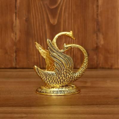 White Metal Swan Tissue Holder Gold Finish return gift