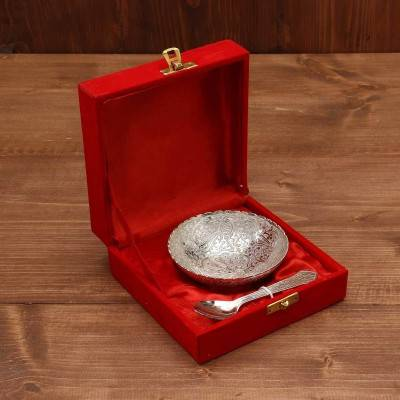 Silver Plated Bowl 4 inch return gift
