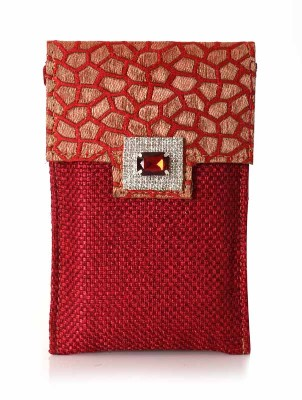 Mobile holder - mobile pouch with jute and motif return gift