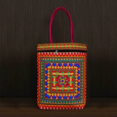 Shoulder Bag with thread embroidery work - Indian return gift
