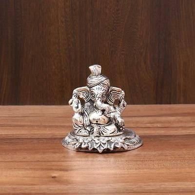 White Metal Ganesha -  Indian return gift