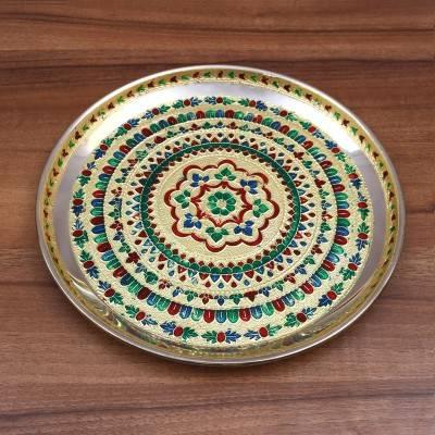 Minakari Plate 10 inch return gift