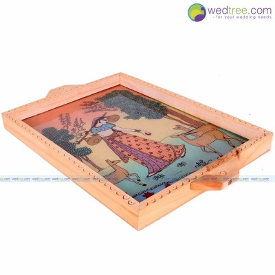 Wooden Gem Stone Painting Tray return gift