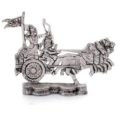 Oxidised - Krishna arujuna ratham - White Metal Oxidised - Krishna arujuna ratham