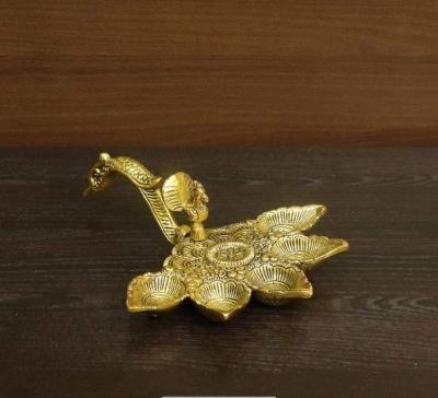White metal gold finish Arati stand return gift