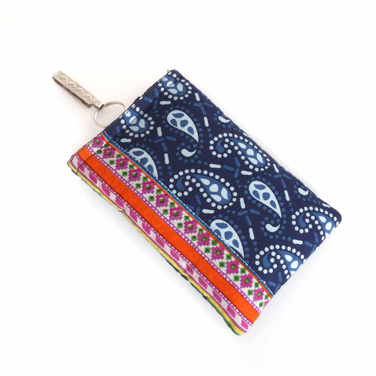 Mobile Pouch - mobile pouch with block print design return gift