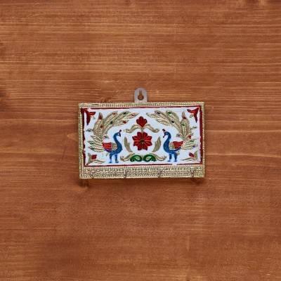 Golden Minakari Key Hanger Rectangle Shape  return gift