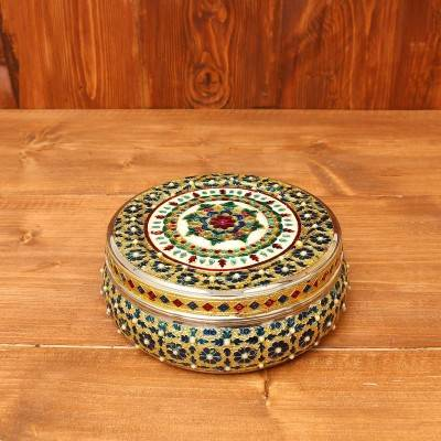 Minakari Dabba with Stone work return gift
