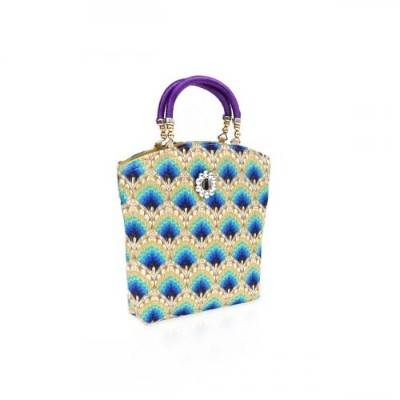 Hand bag Floral design with thread handle return gift