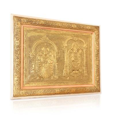 Wall Hanging - Oxidised Alamelu Thayar with Venkateshwara  return gift