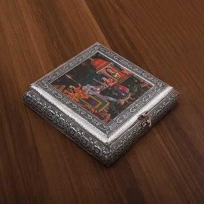 Oxidised photo box  return gift