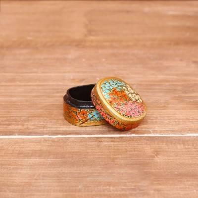 Hand Painted Paper Mache Kumkum Box return gift