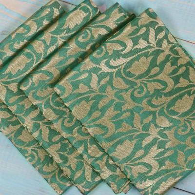 Brocade Blouse Bit - Brocade Blouse Bit Dark Green Floral Design - Pack of 10